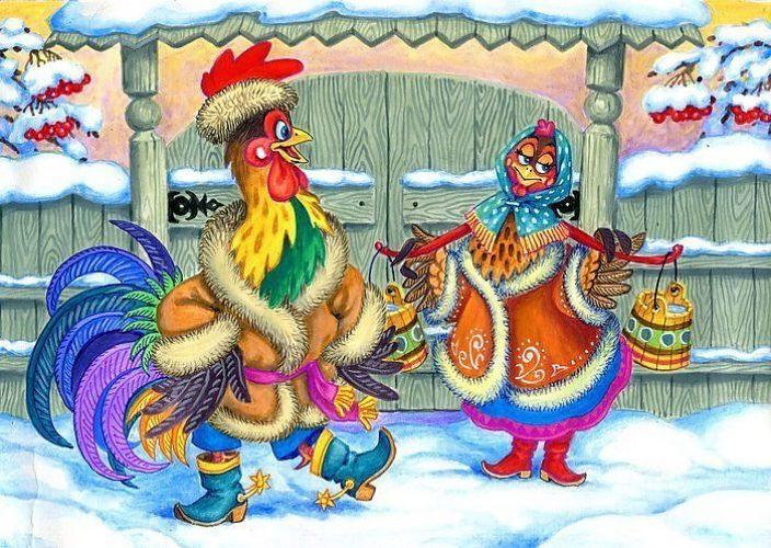 Новогодние прикольные картинки петуха, сайты открыткам открытки