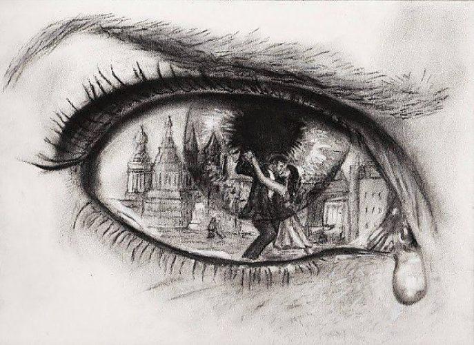 Рисунки о любви со смыслом карандашом
