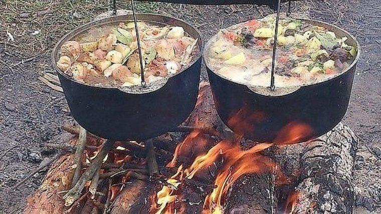 бывают конструкции рецепты на костре в походе с фото сэндвич-трубу
