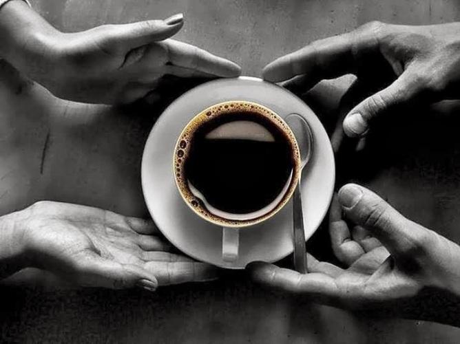 Черно белые картинки мужчины и женщины с добрым утром