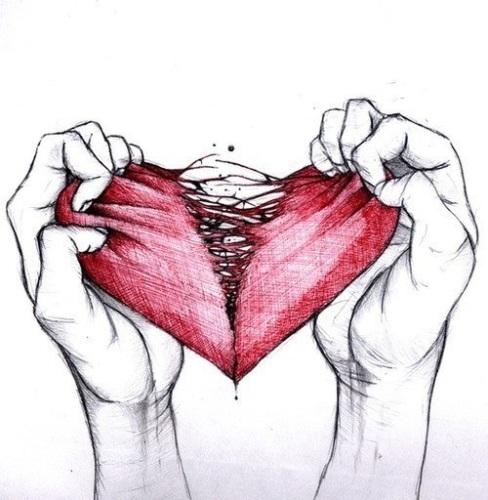 Нарисовать рисунки про любовь и боль
