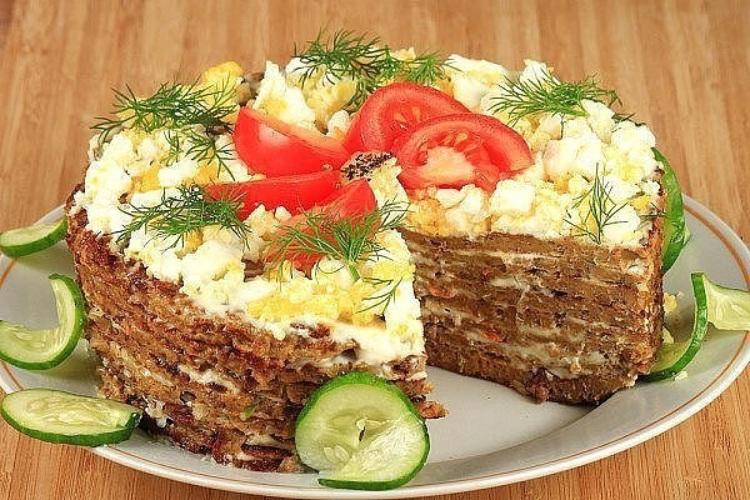 мягкие блины мясной торт рецепт с фото пошагово слишком