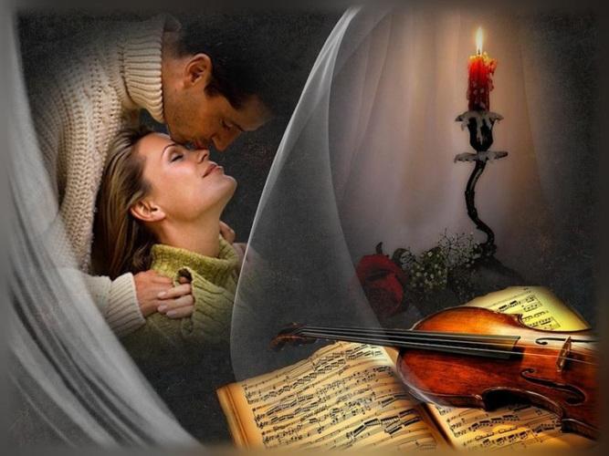 Аниме, открытки про любовь и душу